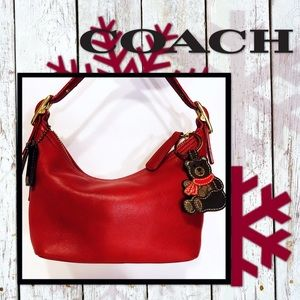 """Beary"" Cute Cranberry COACH Demi Hobo"